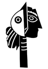 Målarbild skulptur av Picasso