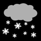 Målarbild snö