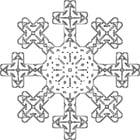 Målarbild snöflinga