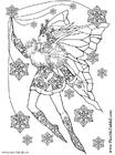 Målarbild Snöflingans fe