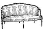 Målarbild soffa