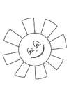 Målarbild sol