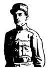 Målarbild soldat frÃ¥n andra världskriget