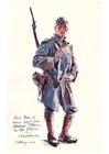 Målarbild soldat under första världskriget