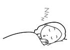 Målarbild sovhygien