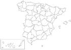 Målarbild Spaniens provinser