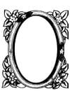 Målarbild spegel