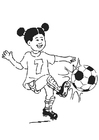 Målarbild spela fotboll