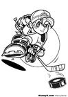 Målarbild spela hockey