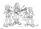 Målarbild spela musik
