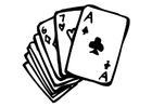 Målarbild spelkort