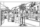 Målarbild stad