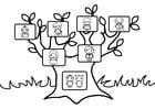 Målarbild stamträd