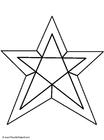 Målarbild stjärna