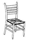 Målarbild stol
