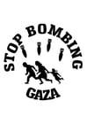 Målarbild stoppa bomba Gaza