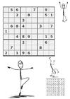 Målarbild sudoku - i rörelse