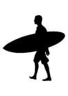Målarbild surfare