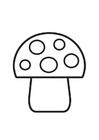 Målarbild svamp med prickar