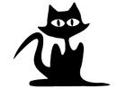 Målarbild svart katt