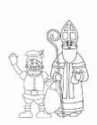Målarbild Svarte Petter och S:t Nikolaus