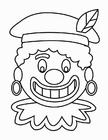 Målarbild Svarte Petters ansikte (2)