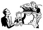 Målarbild Tacksägelse middag