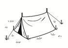 Målarbild tält