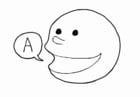 Målarbild tala - prata