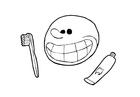 Målarbild tandborstning