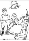 Målarbild tandläkare