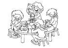 Målarbild tecknarhörna