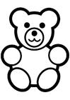 Målarbild teddybjörn