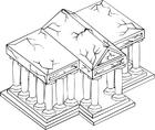 Målarbild tempel