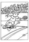 Målarbild tennis
