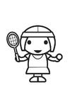 Målarbild tennisspelare