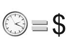 Målarbild tid är pengar