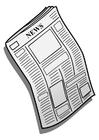 Målarbild Tidning