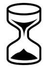 Målarbild timglas