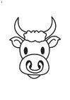 Målarbild tjurens huvud