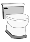 Målarbild toalett