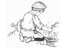 Målarbild trädgÃ¥rdsarbete