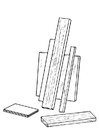 Målarbild träplankor