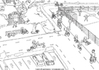 Målarbild trafik