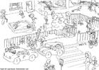 Målarbild trafik vid skolan