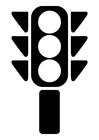 Målarbild trafikljus