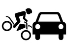 Målarbild trafikolycka