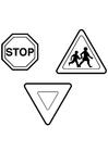 Målarbild trafikskyltar