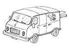 Målarbild transportbil