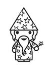Målarbild trollkarl